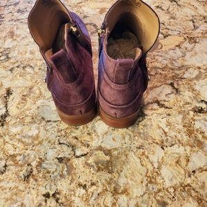Franco Sarto Shoes - Franco Sarto Burgundy Suede As nkle Boots
